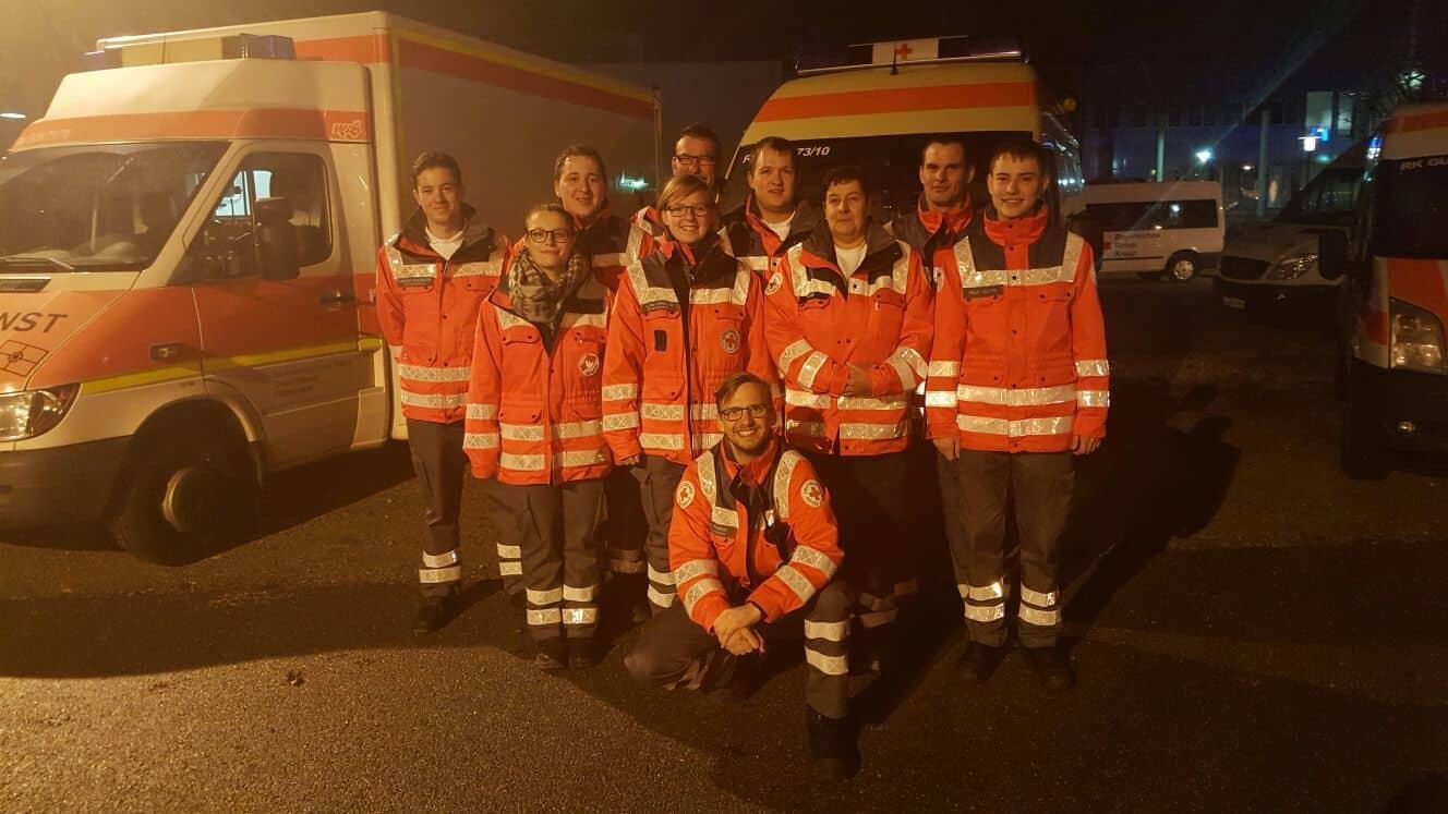 Gruppenbild Evakuierung Augsburg