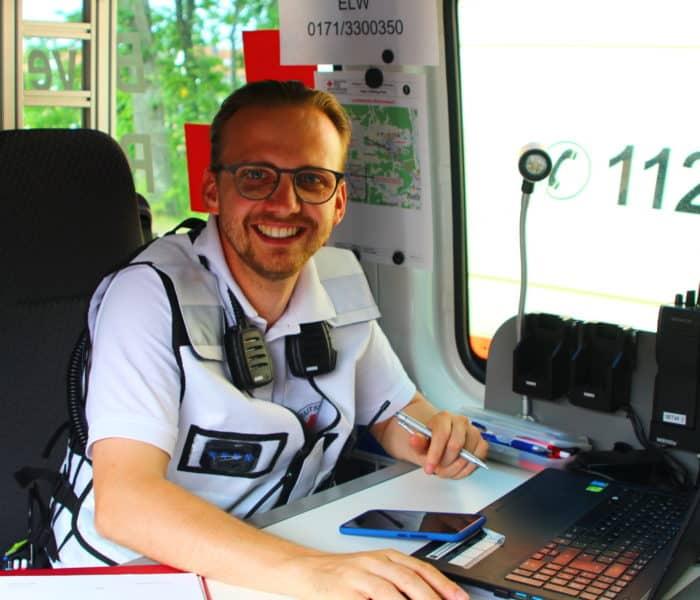 Paul Pfeifer als Abschnittsleiter